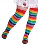 五颜六色的女性膝盖储存 免版税库存图片