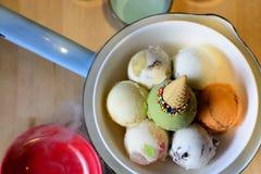 五颜六色的奶油色冰 免版税图库摄影