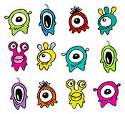 五颜六色的妖怪 库存图片