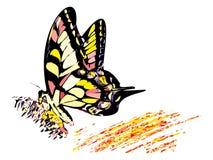 五颜六色的嬉皮的蝴蝶 向量例证
