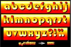 五颜六色的字体 库存图片