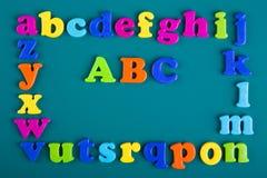 五颜六色的字母表框架  免版税图库摄影