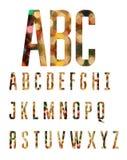 五颜六色的字母表由抽象几何形状做成 免版税库存照片