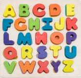 五颜六色的字母表集 库存图片