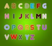 五颜六色的字母表 免版税库存照片