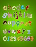 五颜六色的字母表 免版税库存图片