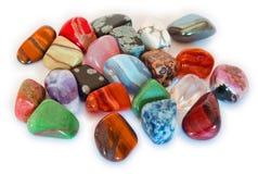 五颜六色的孤立石头 免版税库存图片
