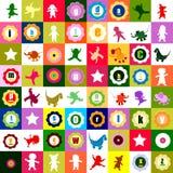 五颜六色的孩子模式 库存照片