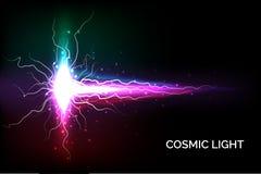 五颜六色的宇宙光 库存例证