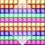 五颜六色的宝石正方形裁减样式背景 免版税库存图片