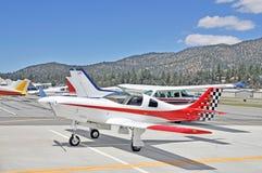 五颜六色的实验飞机 免版税库存图片