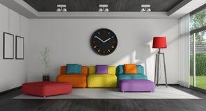 五颜六色的客厅 免版税库存图片