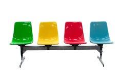 五颜六色的室外椅子 库存图片