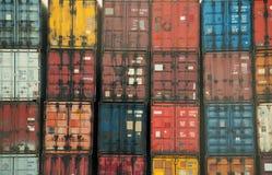 五颜六色的容器 免版税库存照片
