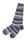 五颜六色的对袜子 免版税库存图片