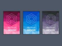 五颜六色的小册子标题板料集合 库存照片