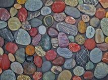 五颜六色的小卵石的背景样式 库存图片