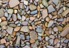五颜六色的小卵石 库存图片