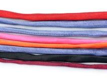 五颜六色的小山排行s纺织品部落 库存图片