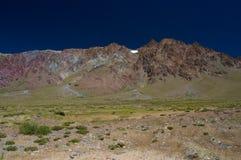 五颜六色的小山 库存图片