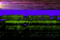 五颜六色的小故障艺术数字式背景 免版税库存照片