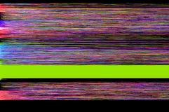 五颜六色的小故障艺术背景 库存照片