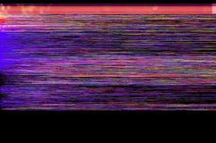 五颜六色的小故障艺术背景 免版税库存照片