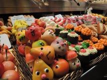 五颜六色的小杏仁饼糖果 库存图片