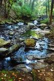 五颜六色的小河岩石 免版税库存照片