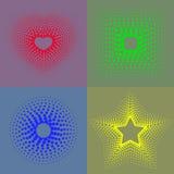 五颜六色的小点几何形象 库存图片