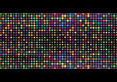 五颜六色的小点马赛克 库存例证