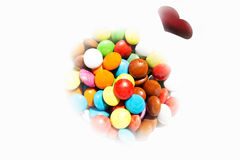 五颜六色的小的糖果 免版税库存图片