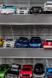 五颜六色的小缩样汽车玩具收藏 库存照片