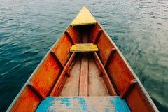 五颜六色的小船细节 免版税图库摄影