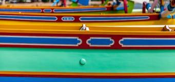 五颜六色的小船 库存图片