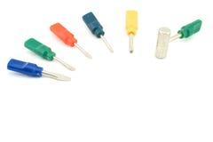 五颜六色的小螺丝刀和锤子 免版税图库摄影