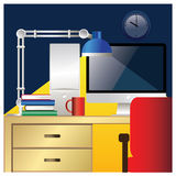 五颜六色的小规模工作站 向量例证