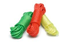 五颜六色的尼龙绳索 免版税库存照片