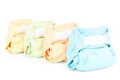 五颜六色的尿布 库存照片