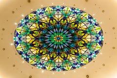 五颜六色的屋顶装饰样式 库存图片