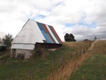五颜六色的屋顶 免版税库存照片