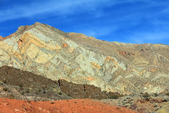 五颜六色的山,内华达 免版税库存照片