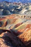 五颜六色的山 免版税库存图片