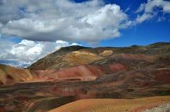 五颜六色的山 库存照片
