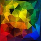 五颜六色的岩石多角形背景 免版税库存照片