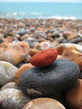 五颜六色的岩石栈 图库摄影