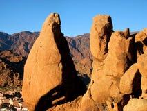 五颜六色的岩石tafraoute 库存图片