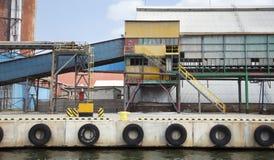 五颜六色的工业场面 库存图片
