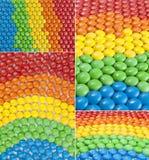 五颜六色的巧克力糖拼贴画 免版税库存图片