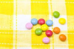 五颜六色的巧克力 图库摄影